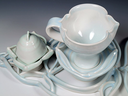 Double Saucer Cup and Dome Setting for Two, detail